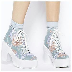 Shelly's London Shoes - Shelly's London Floral Asuven Platforms